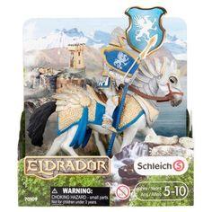 Schleich Eldrador Griffin Knight on Horse with Lance Toy 5-10 Years, Silver