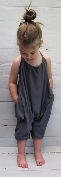 CC- Kids/Toddler Strap Jumpsuit- New Arrival- Trendy Casual Toddler Outfits, Baby Boy Outfits, Kids Outfits, Toddler Girls, Baby Girls, Sewing For Kids, Baby Sewing, Look Fashion, Kids Fashion