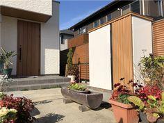 外構 Garage Doors, Shed, Patio, Outdoor Decor, Home Decor, Decoration Home, Room Decor, Home Interior Design, Carriage Doors