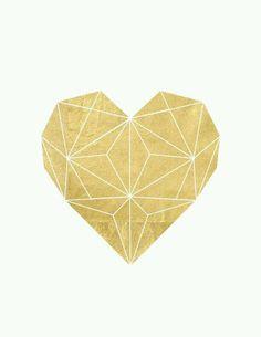 gold heart Mehr