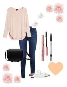 """""""a little about my style..."""" by its-raeokay ❤ liked on Polyvore featuring Halogen, Birkenstock, ZoÃ« Chicco, L'Oréal Paris, It Cosmetics and Ann Demeulemeester"""