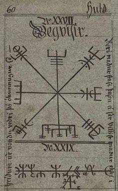 There is a Norse charm called the Vegvísir. It comes from the Huld Manuscript, which was collected in Icelnd in 1880, but contains much ...