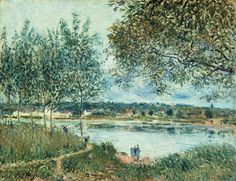 The Path to the Old Ferry at By by Alfred Sisley