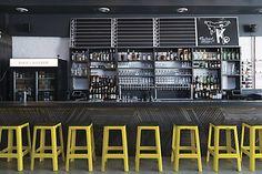 Logotype, illustration, menus, signage and business cards by Franklyn for Chicago's Korean Polish street food restaurant Kimski. Pub Interior, Interior Styling, Interior Architecture, Interior And Exterior, Interior Design, Restaurant Identity, Deco Restaurant, Restaurant Design, Restaurant Ideas