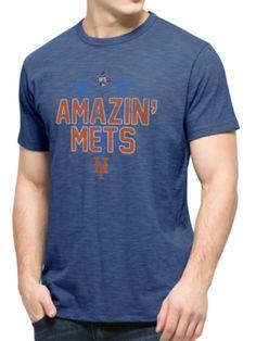 "New York Mets 47 Brand 2015 World Series ""Amazin' Mets"" Blue Scrum T-Shirt"