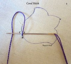Royce's Hub: Embroidery Stitches: Coral Stitch