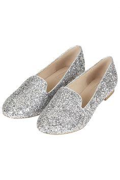 TOPSHOP Sparrow Glitter Slipper Shoes