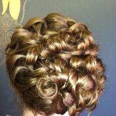 my wedding hair!