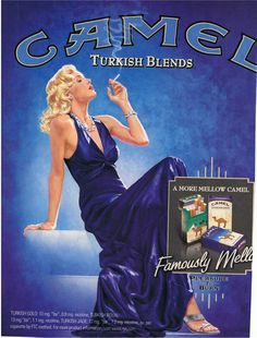 When I was a kid I loved the turkish gold. Vintage advertisement for Camel Cigarettes - Turkish Blend. Retro Vintage, Retro Ads, Vintage Images, Vintage Advertising Posters, Old Advertisements, Vintage Posters, Retro Posters, Old Poster, Poster Ads