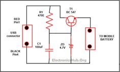 Picture of USB Mobile Phone Travel Charger Circuit