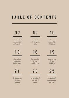70 best table of contents design images editorial design rh pinterest com