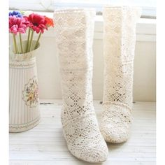 Buy New Cutouts Knitting Hollow out Summer boots Big Size34-43 ...