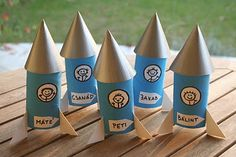 DIY CRAFT ** Toilet paper rolls **  party toilet roll rockets