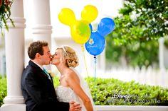 A sweet moment outside of Disney's Wedding Pavilion #disneywedding