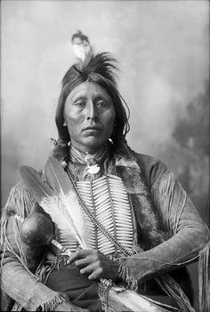 Antique Photograph - Ah-Keah-Boat (Two Hatchet) - Kiowa - 1898