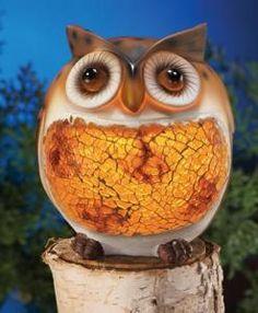 #98589 Outdoor Garden Mosaic Owl Solar Light by sensationaltreasures
