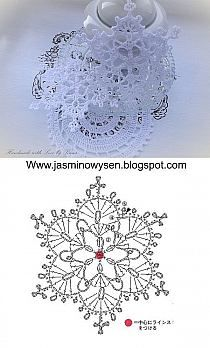 Crochet christmas doily snowflake ornaments Ideas for 2020 Crochet Snowflake Pattern, Crochet Stars, Crochet Motifs, Crochet Snowflakes, Crochet Diagram, Thread Crochet, Crochet Crafts, Crochet Flowers, Crochet Projects