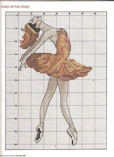 cross stitch ballerina ballet dancer