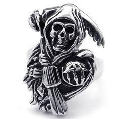 KONOV Jewelry Stainless Steel Band Casted Grim Reaper Skull Biker Men's Ring, Black Silver, Size 8 KONOV Jewelry,http://www.amazon.com/dp/B00FO5KH9A/ref=cm_sw_r_pi_dp_bSOGtb0M9F1DPETV