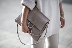 How to style a neutral outfit and look luxe - (Chloe Bag) Beige RenegadeBeige Renegade Chloe Handbags, Suede Handbags, Large Handbags, Purses And Handbags, Faye Bag, Chloe Bag, Celine, Dress Stores Near Me, How To Look Expensive