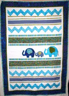 Elephant Quilt by lolaquilts on Etsy, $175.00