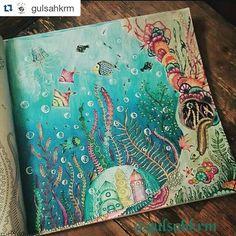 Instagram media desenhoscolorir - Que cores! By @gulsahkrm #lostocean #oceanoperdido #jardimsecreto #johannabasford #milliemarotta #animalkingdom #jardimsecreto #johannabasford #desenhoscolorir