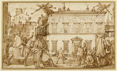 Federico Zuccaro, 'Taddeo Decorating the Façade of the Palazzo Mattei,' 1595, J. Paul Getty Museum