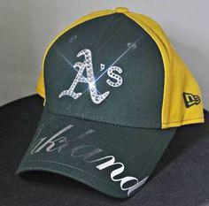Oakland Athletics Swarovski Rhinestone Bling Hat