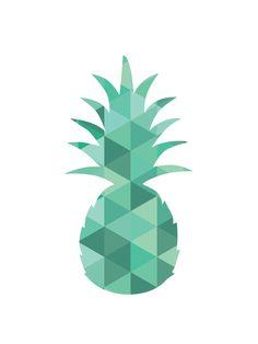 Pineapple Print Turquoise Green Blue Art par MelindaWoodDesigns Pineapple Pictures, Logo Samples, Geometric Wall Art, Pineapple Print, Blue Art, Summer Art, Design Consultant, Branding, East Street