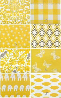 YELLOW CURTAINS Premier Fabric Collection by Cathyscustompillows, $109.00