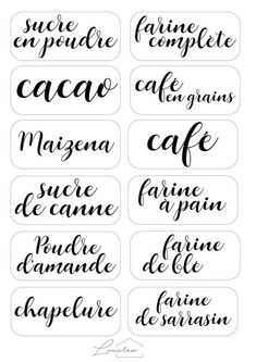 Customized Stickers And Labels Kitchen Labels, Pantry Labels, Food Labels, Kitchen Pantry, Free Printable Art, Printable Labels, Labels Free, Kitchen Organisation, Wardrobe Organisation