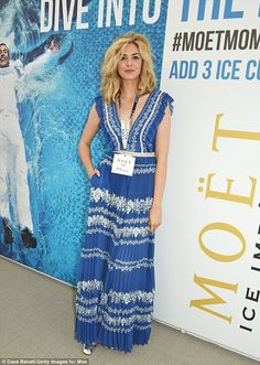 Tamsin Egerton certainly looked well suited to motherhood as she made her first official red carpet appearance since their birth of her daughter earlier this year Tamsin Egerton, Post Baby Body, Female Fighter, New Mums, Mamma Mia, Dress Making, Red Carpet, Birth, Daughter
