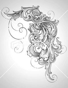 Designed by a hand engraver, this carefully drawn and highly detailed intertwining scrollwork can be used a number of ways. Easily change the scroll colors. Scale to any size without loss of quality. Filigree Tattoo, Pinstripe Art, Satan, Metal Engraving, Filigree Design, Black And White Drawing, Free Vector Art, Ink Art, Tattoo Inspiration