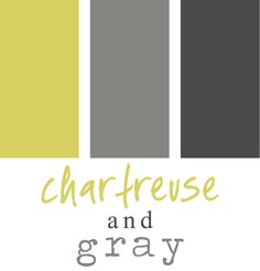 Inspiration for a Chartreuse + Gray Wedding.
