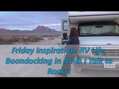 This week for your Friday RV Living & Van Dwelling Escape the Rat Race Inspiration, , I share a boondocking story, views of my camp near Pahrump, NV and we g. Cool Campers, Rv Campers, Van Dwelling, Diy Rv, Rv Accessories, Rat Race, Rv Hacks, Rv Travel, Rv Life