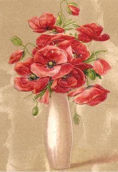 Lovely FLOWER VASE On Vintage 1913 JOHN WINSCH German