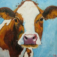 cow art - What 'cha doing in my pasture???
