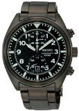 Seiko Men's SNN233 Chronograph Black Dial Watch Reviews - Seiko Men's SNN233 Chronograph Black Dial Watch    Chronograph up to 60 minutes in 1/5 second incrementsChronograph measures split and accumulated elapsed timeScrew down casebackDouble locking