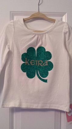 Personalized St. Patrick's Day Shirt Iron-On St. by KeiraKloset