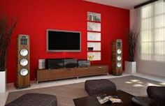red and grey room ideas - Google Search