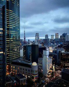 #夕暮れの徘徊シリーズ #銀座 #汐留 #ホテル #窓辺 #ビル #高層ビル #東京タワー #ginza #hotel #window #building #bill #evening#sky#tokyotower #tokyo #japan
