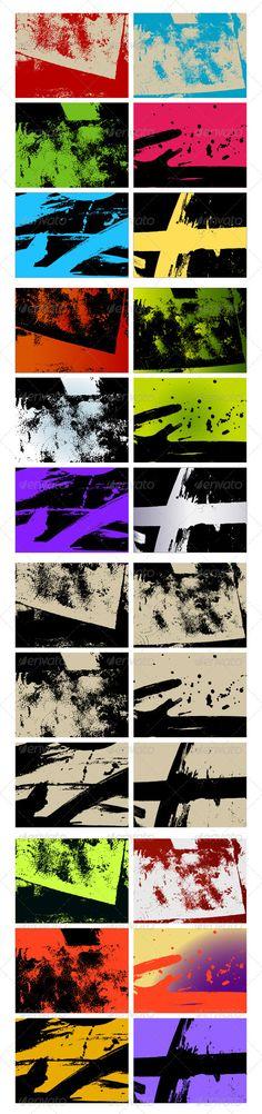 Grunge Background Set  by irmak akcadogan