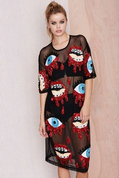 Just have to share. I really love this #DiscountTrash Bleeding Sequin dress #NastyGal http://www.nastygal.com/brands-discount-trash