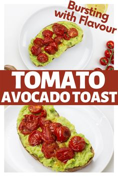 This is how to make a bright and flavourful twist on the hipster classic. Make your avocado toast a little more exciting with some tasty fried tomatoes. This breakfast or snack recipe is bursting with flavor and a great, healthy way to enjoy avocado toast! #vegetarian #recipe #hipster #avocado #toast #breakfast #veggies Avocado Tomato Salad, Avocado Toast, Breakfast Recipes, Snack Recipes, Vegetarian Breakfast, Dinner Recipes, Fried Tomatoes, Vegan French Toast, Veggie Sandwich