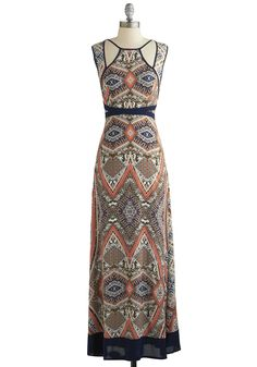 Planning Ports Dress. As you arrange your upcoming vacation, you may not know which wharf youll visit first, but youre sure to pack this kaleidoscopic maxi dress!  #modcloth