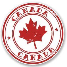2 x Canada Vinyl Sticker #4539