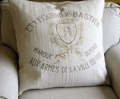 FRENCH CREST Code of Arms  26x26 Super Large Pillow by yiayias, $65.00