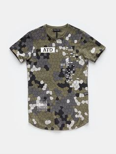 print T-shirt greencamouflage