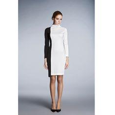 Day & Night Monochrome Dress with Asymmetric Hem | Rumour London | Wolf & Badger
