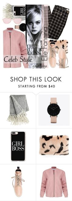 """Elle Fanning"" by goreti ❤ liked on Polyvore featuring CLUSE, Casetify, Shrimps, Valas, Helmut Lang, Oliver Peoples, CelebrityStyle, modelstyle and girlstyle"
